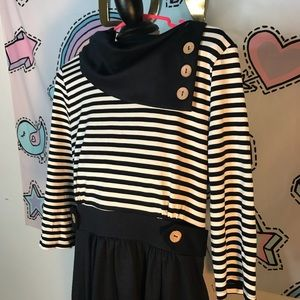 Navy and white striped Nautical dress!